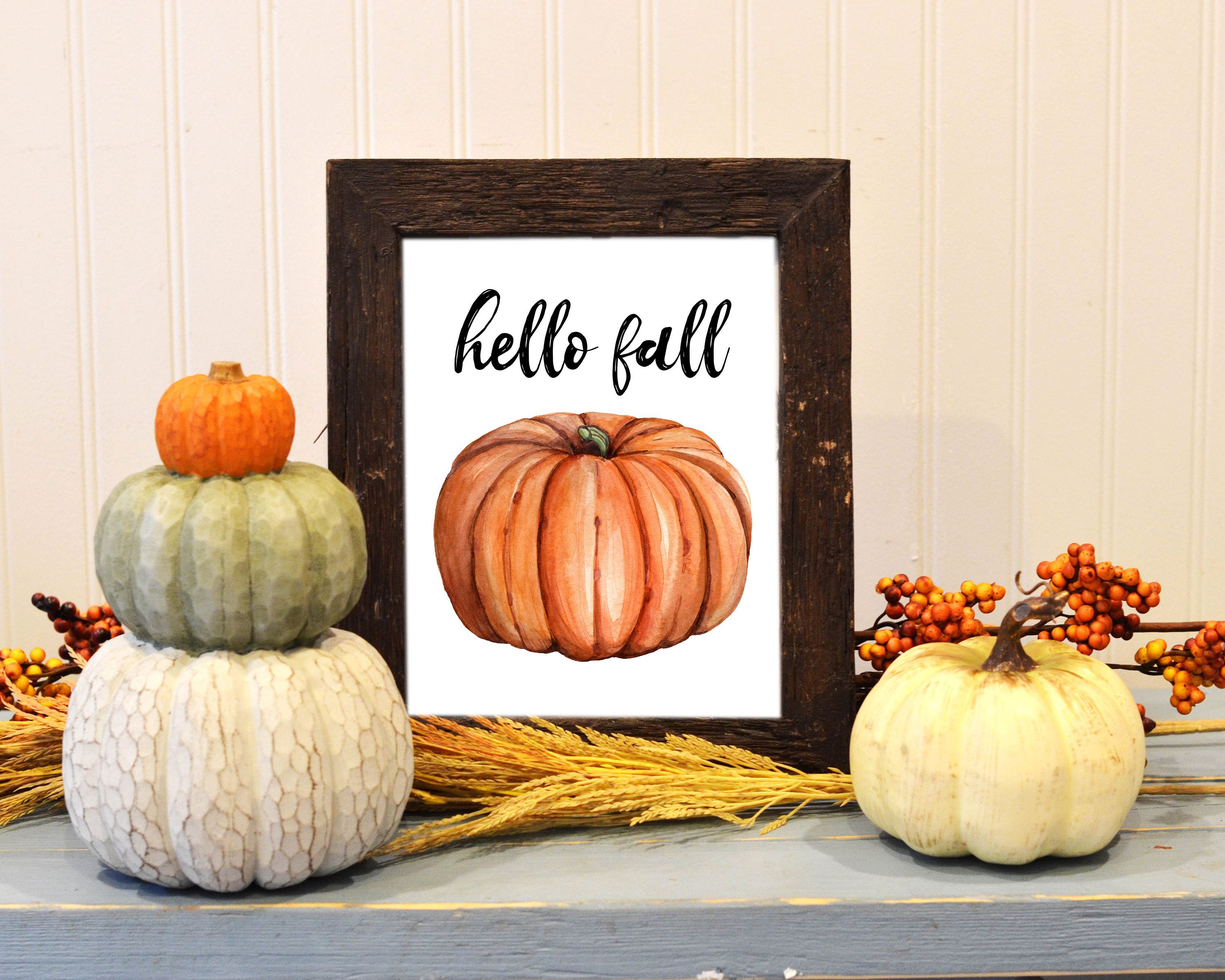 Halloween Printed Canvas Picture Multiple Sizes Fall Autumn Pumpkins Decoration
