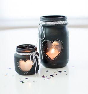 21 id es de d co de mariage avec des pots en verre de. Black Bedroom Furniture Sets. Home Design Ideas