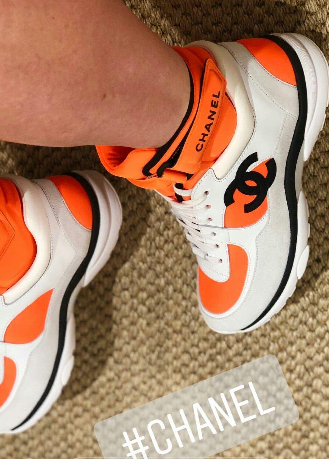 Chanel sneaker Orange | Chanel sneakers