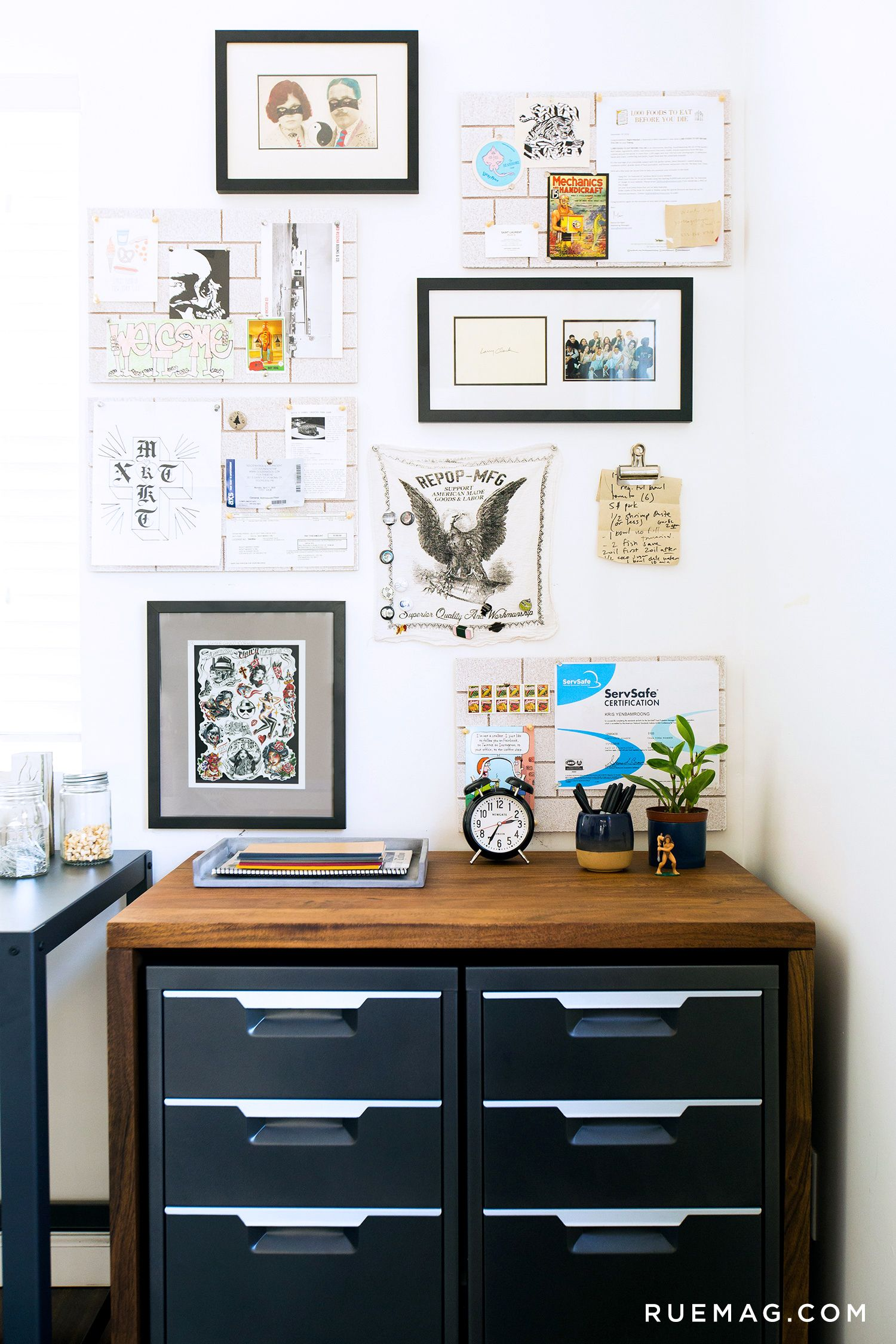 Inside a chefs home office rue work spaces pinterest inside a chefs home office rue xflitez Gallery