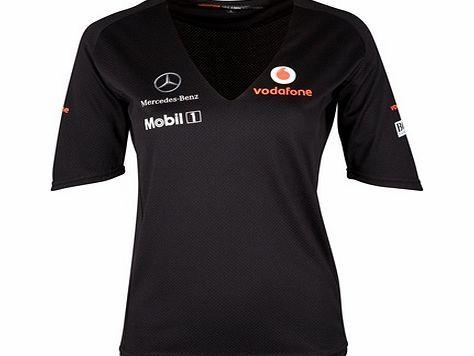 Vodafone Mclaren Car Sport Black T-Shirt Long Sleeve Men or Women Apparel