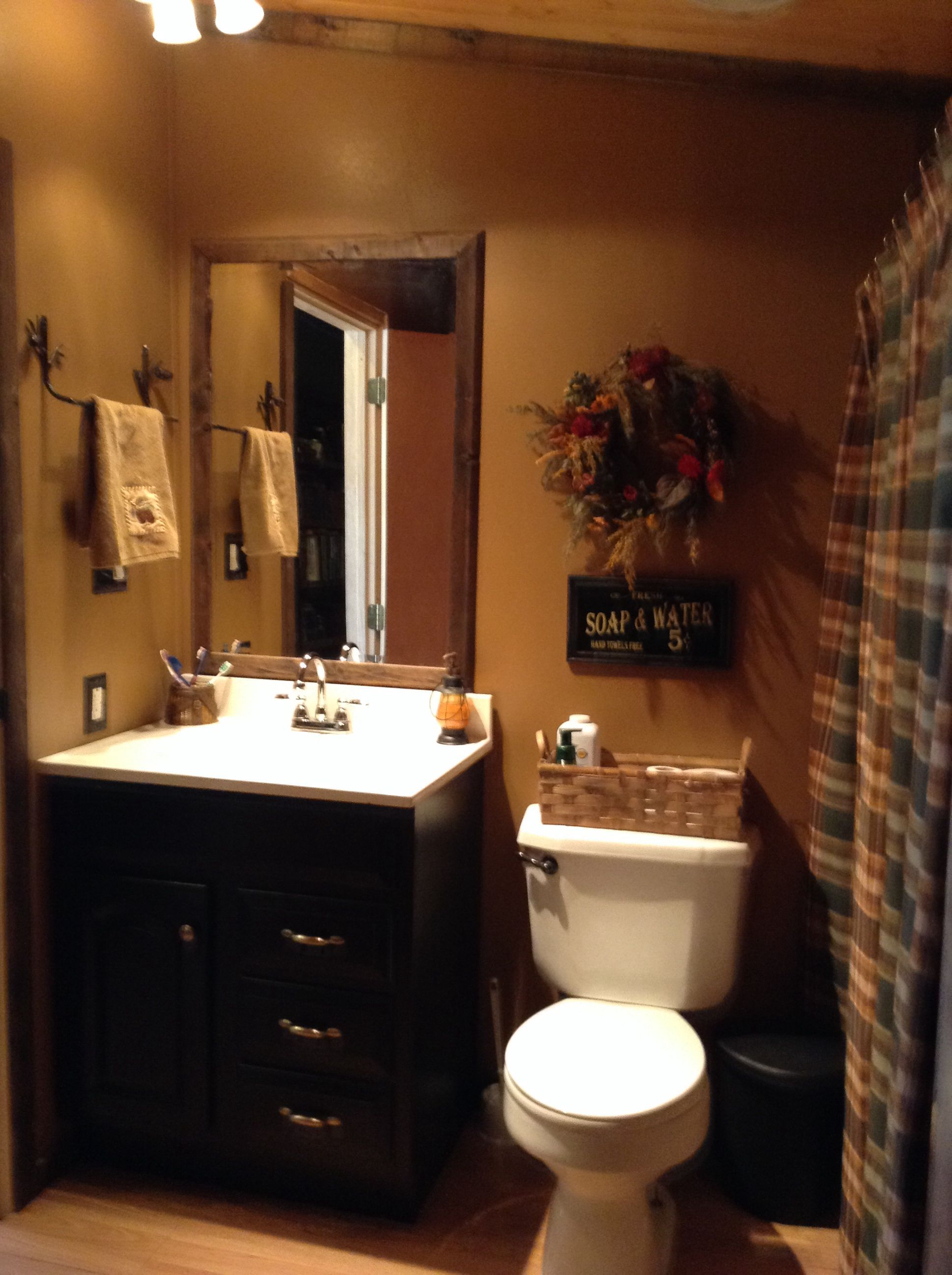 Rustic Bathroom Remodel Double Wide Bathroom Remodel For The Home Mobile Home