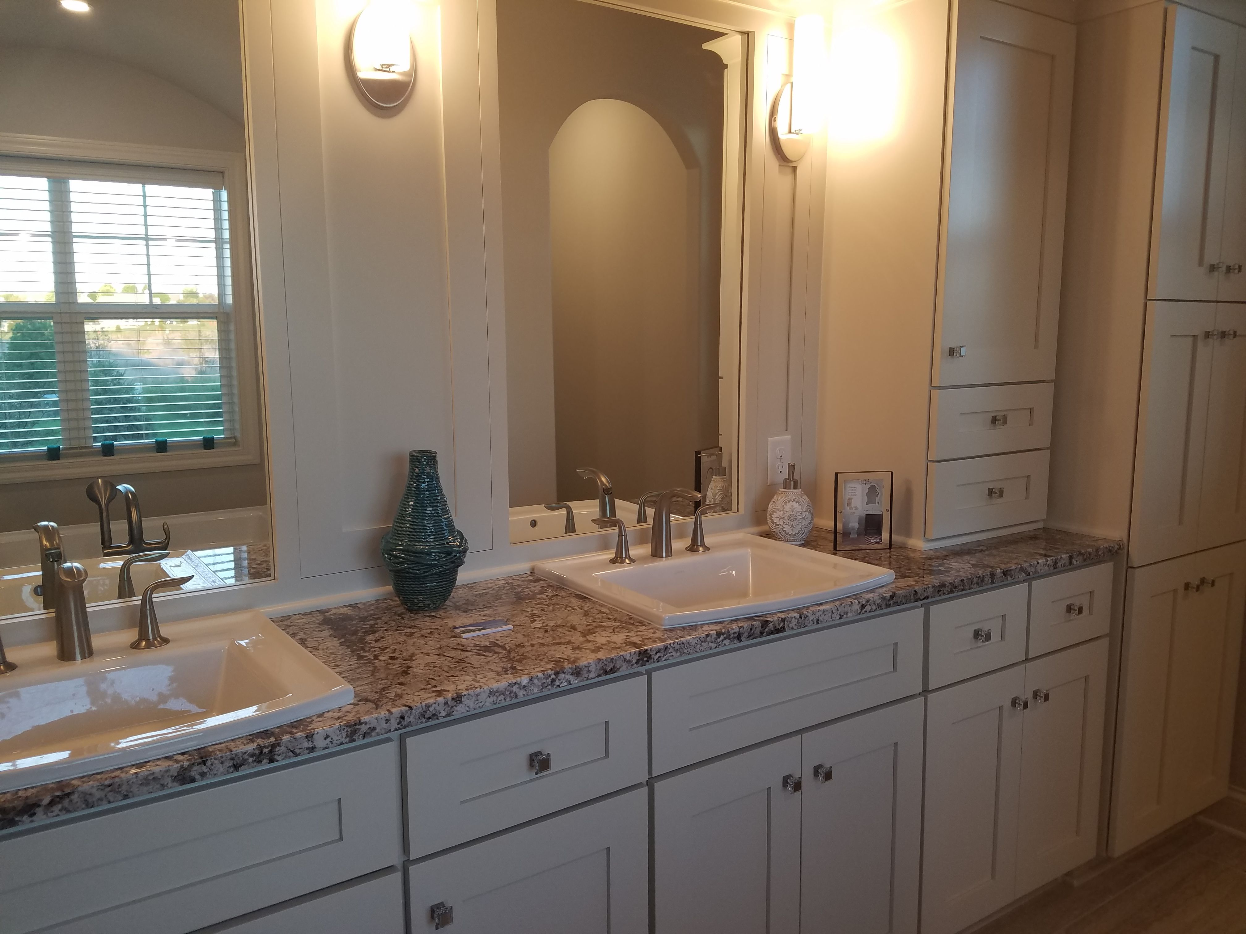 Another example of lots of bathroom storage. Plus I like ...