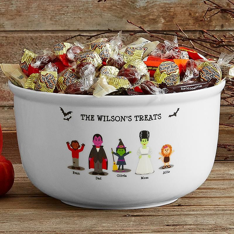 Spooky Family Candy Bowl Candy bowl, Happy halloween and Halloween - halloween candy treat ideas