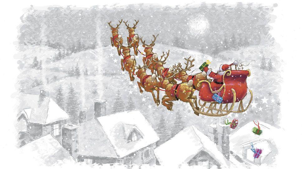 Festival, dessin du père Noël, traîneaux, Rennes, à la maison Wallpaper