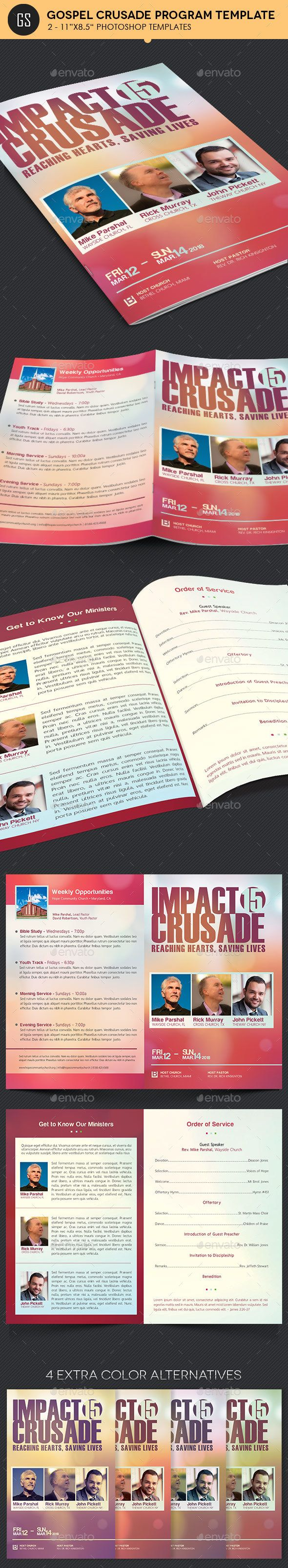 gospel crusade program template informational brochures