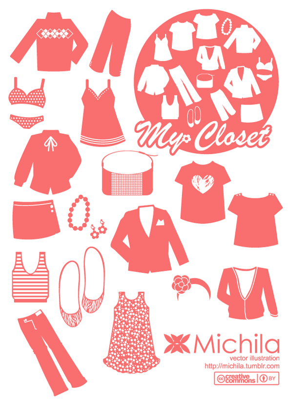 My Closet Fashion Vector Pack Free Vector Site
