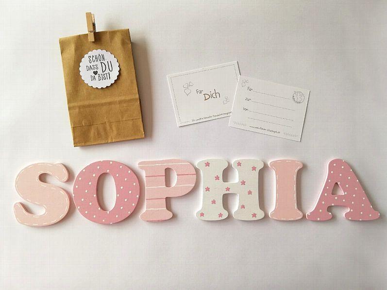 Holzbuchstaben für die Kinderzimmertür Holzbuchstaben