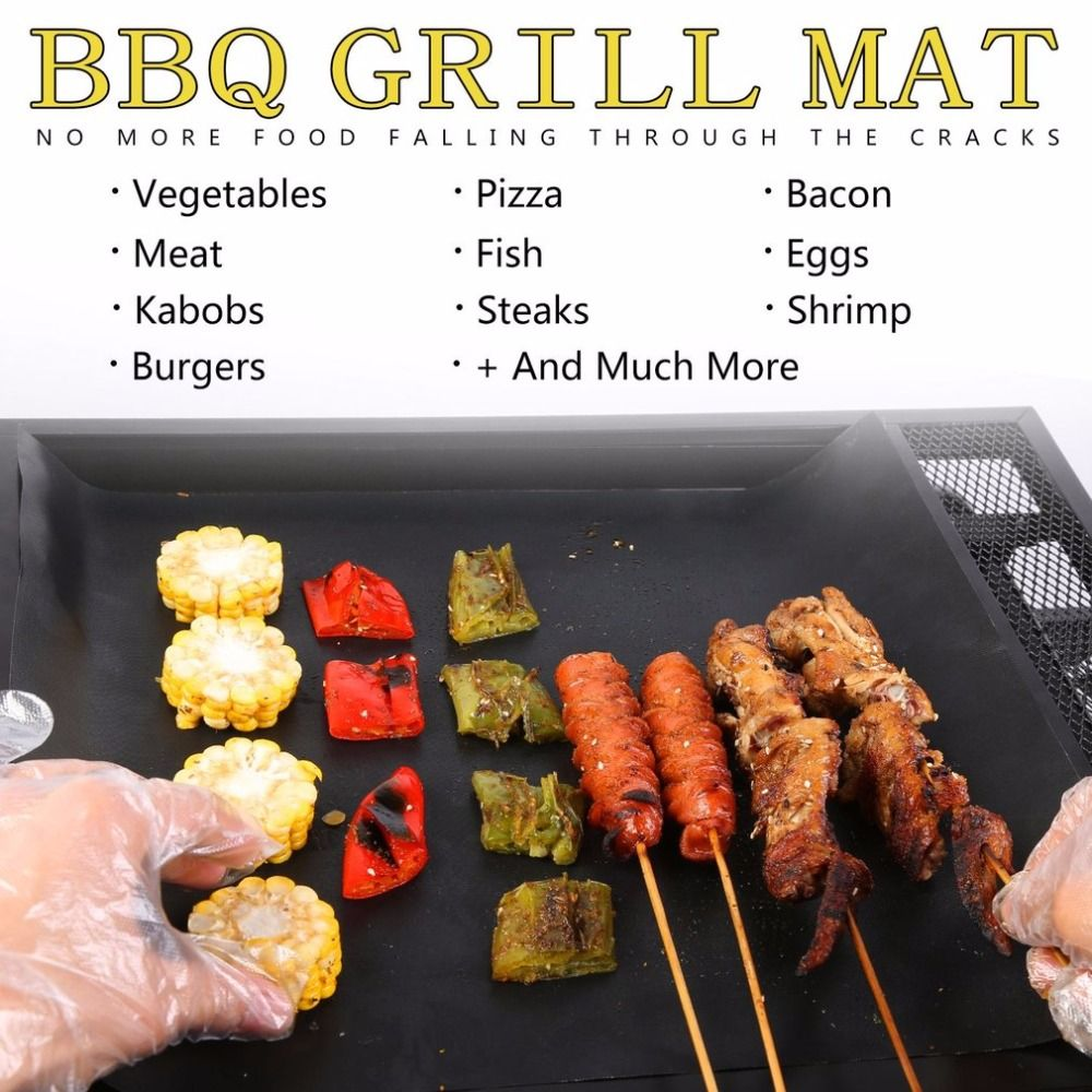 1 Pc Reusable BBQ Grill Mat Cooking Outdoor Non-Stick Barbecue Pad Picnic tool
