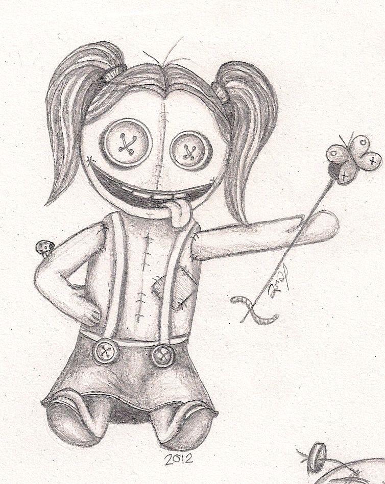Adorable Lune Voodoo | Doll drawing, Halloween art ...