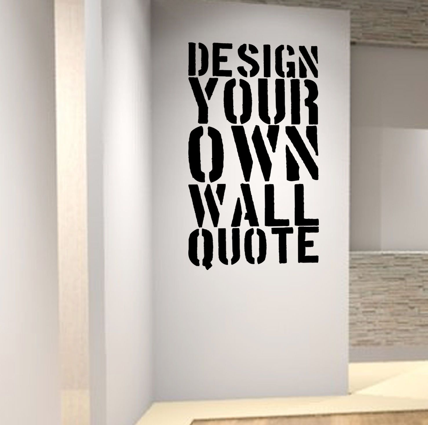 Personalised wall art decal design your own quote professional fast service choices of