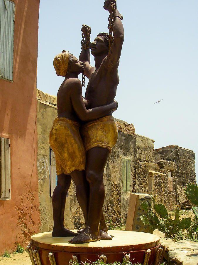 Slave Memorial Statue Ile Goree Dakar Senegal West Africa