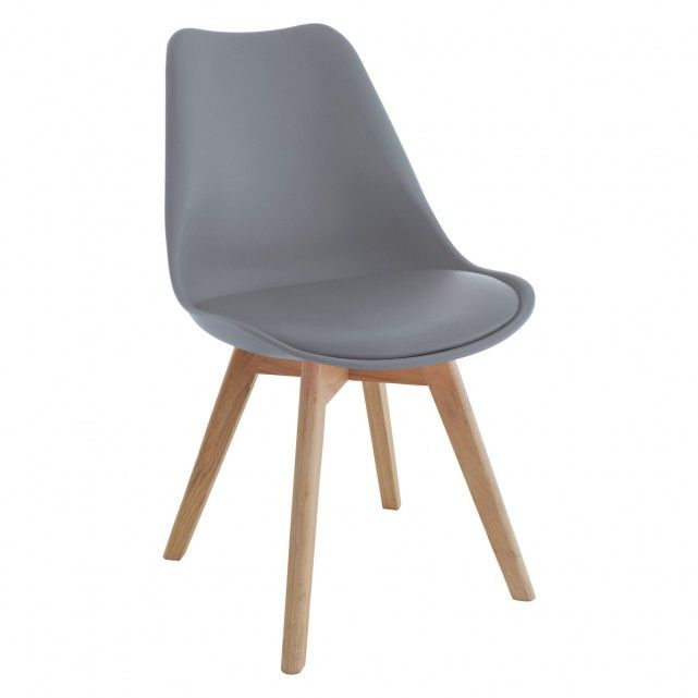 Jerry Grey Dining Chair With Solid Oak Legs Chair Gray Dining