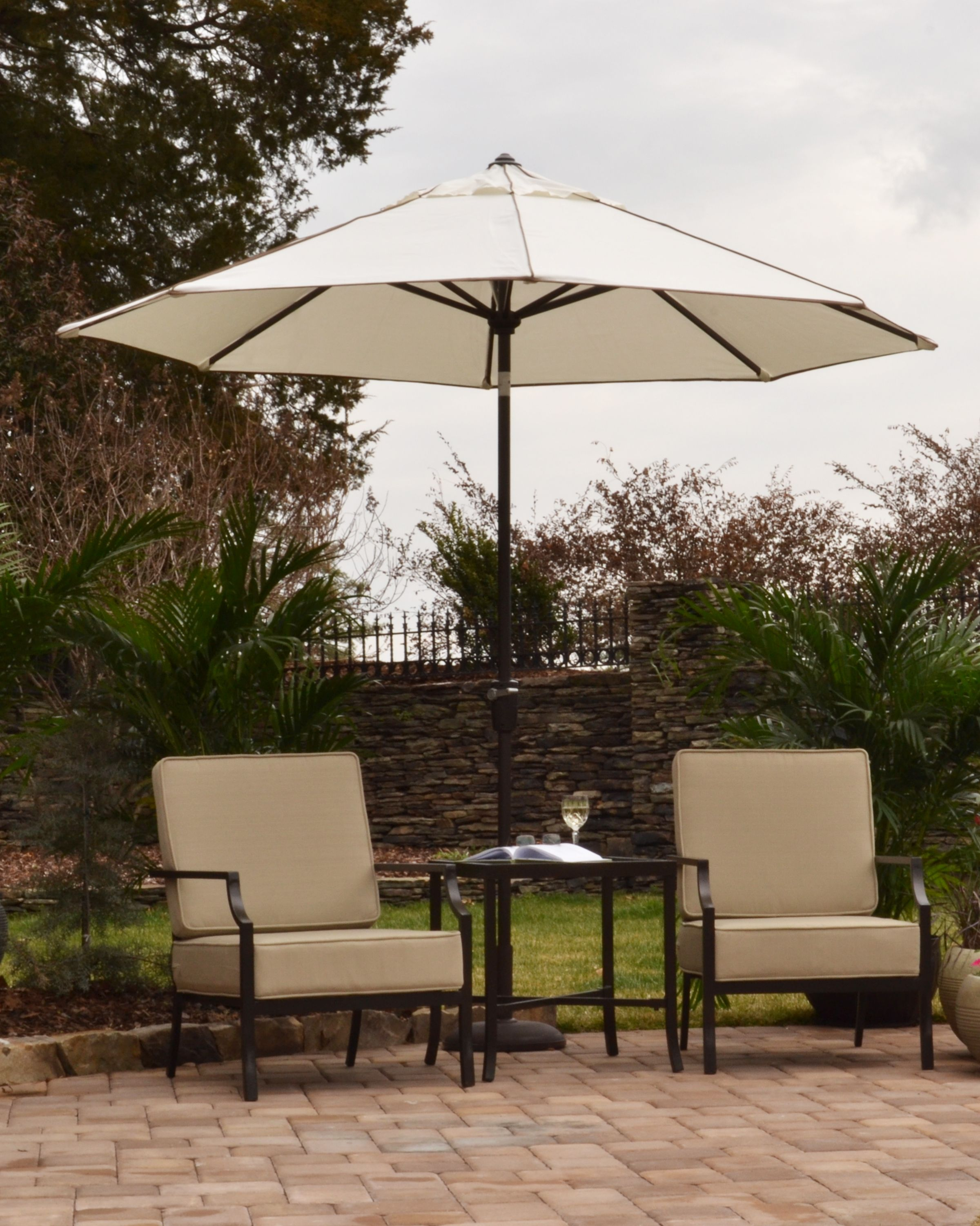 Patio Umbrella Crank Diagram: Scott Living Crank & Tilt Umbrella With Cover