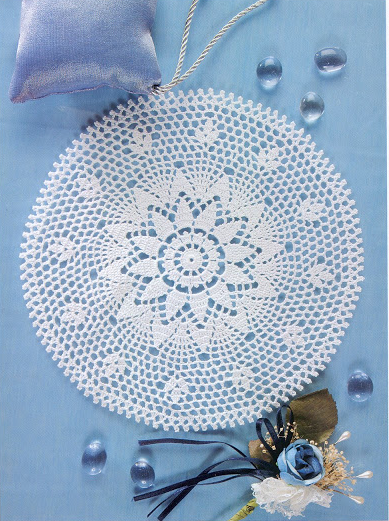 Free chart for this pretty doily….