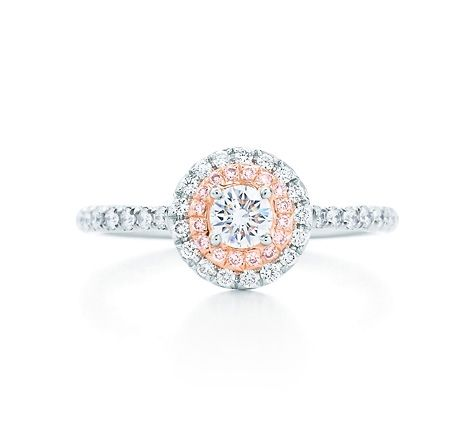 462b3e95d Tiffany & Co. | Item | Tiffany Soleste ring in platinum and 18k rose gold  with Fancy Pink diamonds. | International