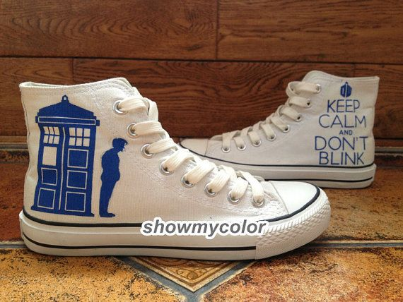 540caf7aba Doctor Who Tardis Lost in space Custom Canvas Shoes