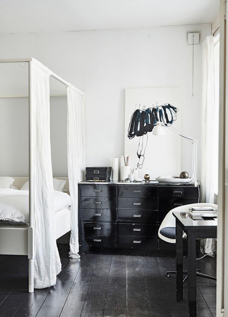 Slaapkamer + zwart-wit + elegant | la maison | Pinterest | Bedrooms ...