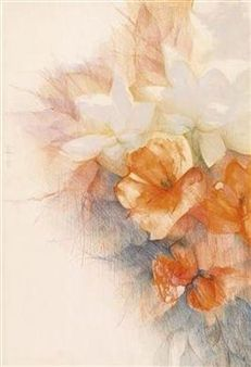 Ibiscus By Pedro Cano 1976 Artwork Artist Watercolor Flowers