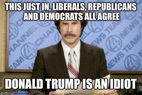Funny Memes For Republicans : Ron burgundy meme this just in liberals republicans and