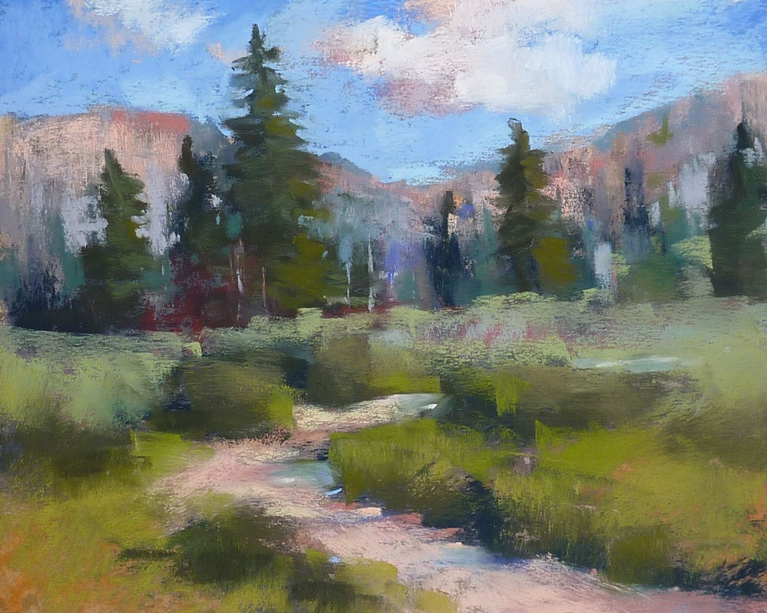 Pastel Landscape Demo Step by Step   WATERCOLOR, PASTELS, THEORY ...