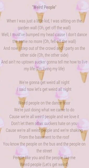 Little Mix Weird People Lyrics Made By Lookingforsara
