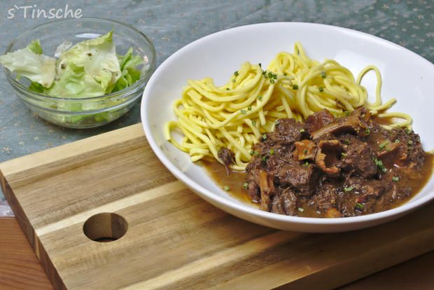 Photo of Red wine balsamic goulash with chanterelles – recipe