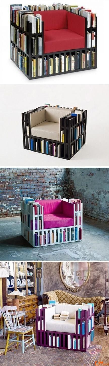 bookshelf chair my daughter would love this campi creations pinterest m bel regal und. Black Bedroom Furniture Sets. Home Design Ideas