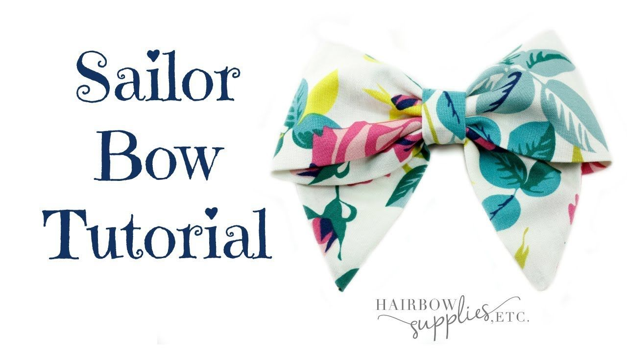 Sailor Hair Bow Tutorial - DIY How to Make a Fabric Bow - Hairbow Supplies, Etc.