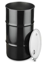 Unlined 16 Gallon Open Top Steel Drum With Lid S 19411 Uline Steel Drum 55 Gallon Steel Drum Steel Barrel