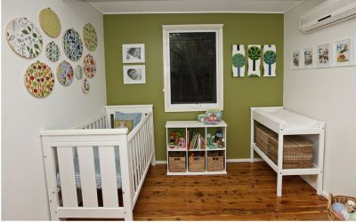 Baby Boy S Blue And Green Modern Vintage Nursery My Archie Has A That At First Glance Ears To Be Very