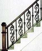 Stairs Iron Stair Railing Wrought Iron Stair Railing Iron Railing | Cast Iron Stair Railing | Residential | Horizontal | Chrome Picket Interior | Custom | Iron Baluster