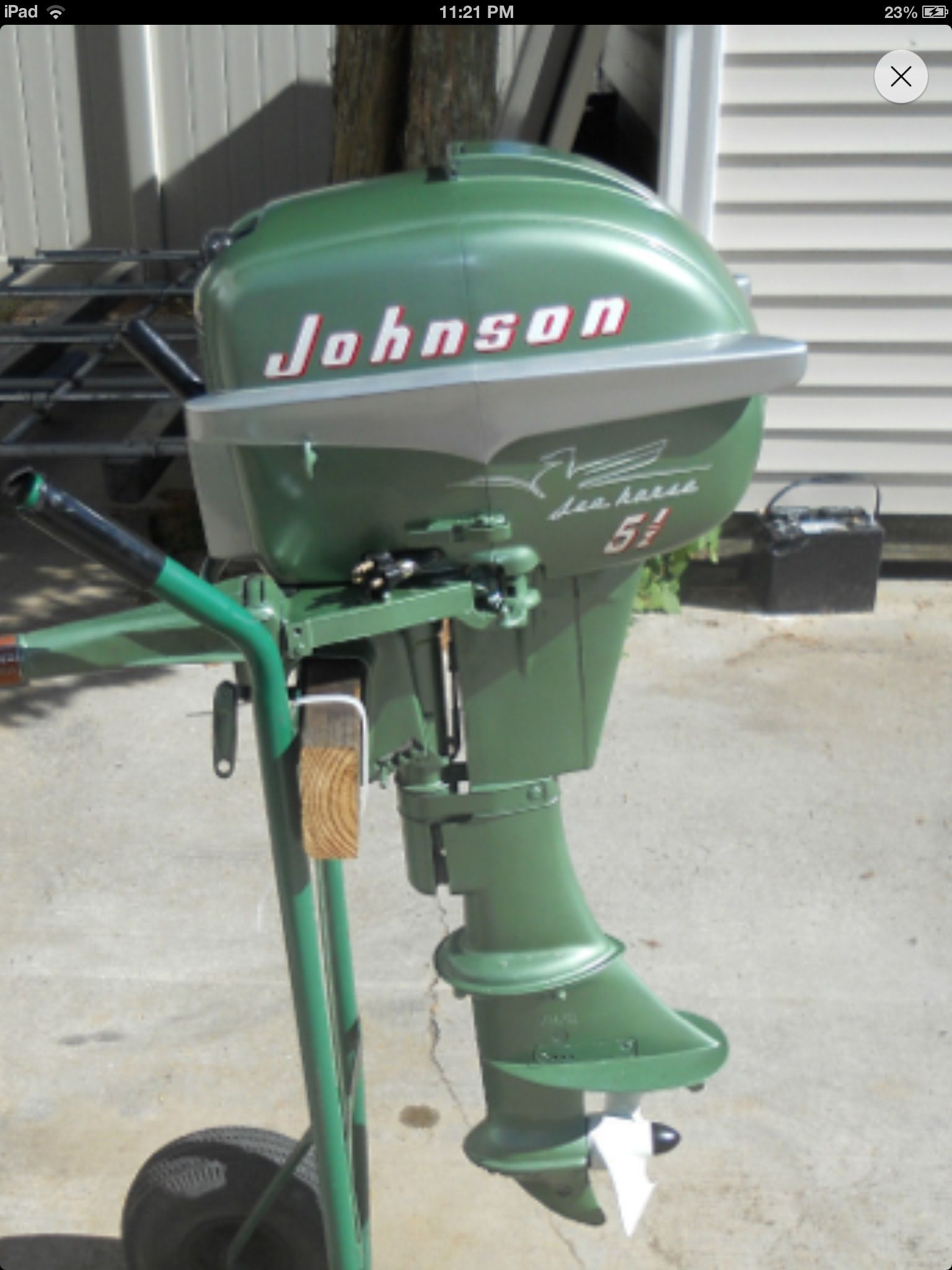 Johnson Outboard; I've repaired more than a few of these. Boat Restoration