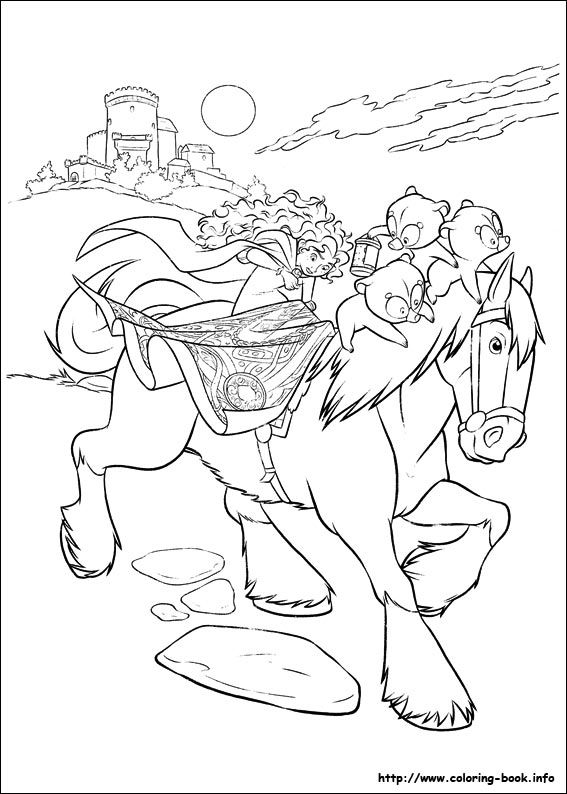 Brave coloring picture   Disney coloring pages, Coloring ...