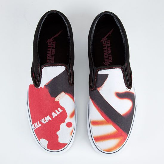 7cf8674be7 VANS Metallica Kill  Em All Classic Slip-On Mens Shoes 212091149 ...