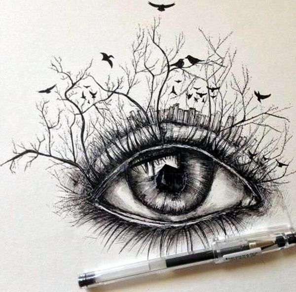 How To Draw An Eye 40 Amazing Tutorials And Examples Bored Art Eye Art Eye Drawing Drawings