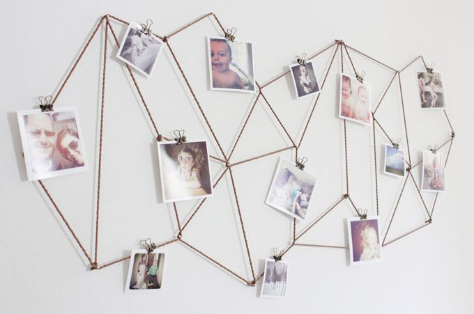 17 Totally Untraditional Unique Ways To Hang Pictures On Your Wall Diy Dorm Decor Dorm Diy Hanging Photos