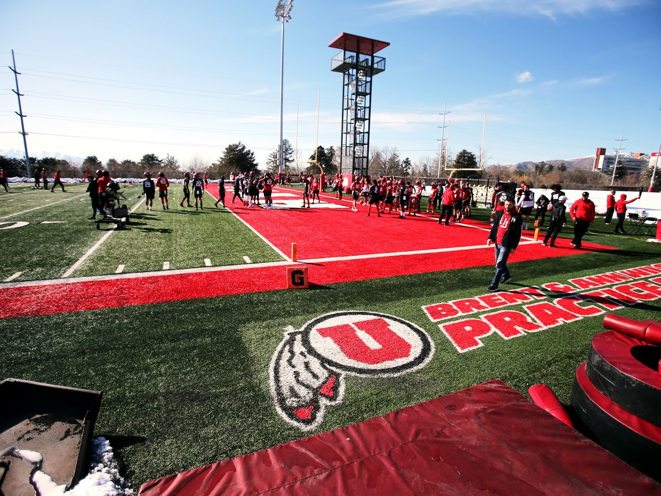 Enthusiasm Runs High As Utah Returns To The Field For First Day Of Spring Football In 2020 Utah Football Spring Football University Of Utah Football