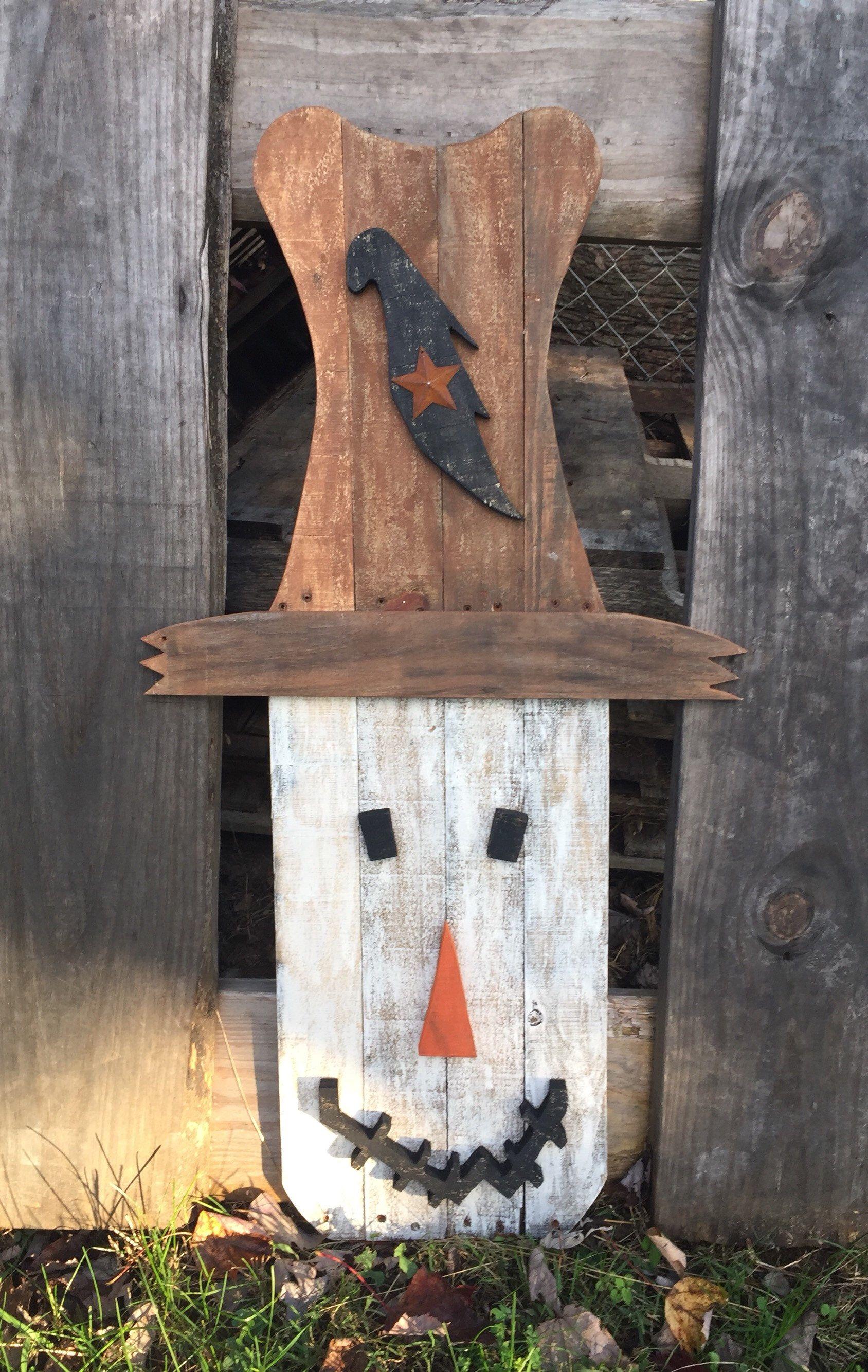 Wooden Scarecrow Scarecrow Rustic Scarecrow Rustic Wooden