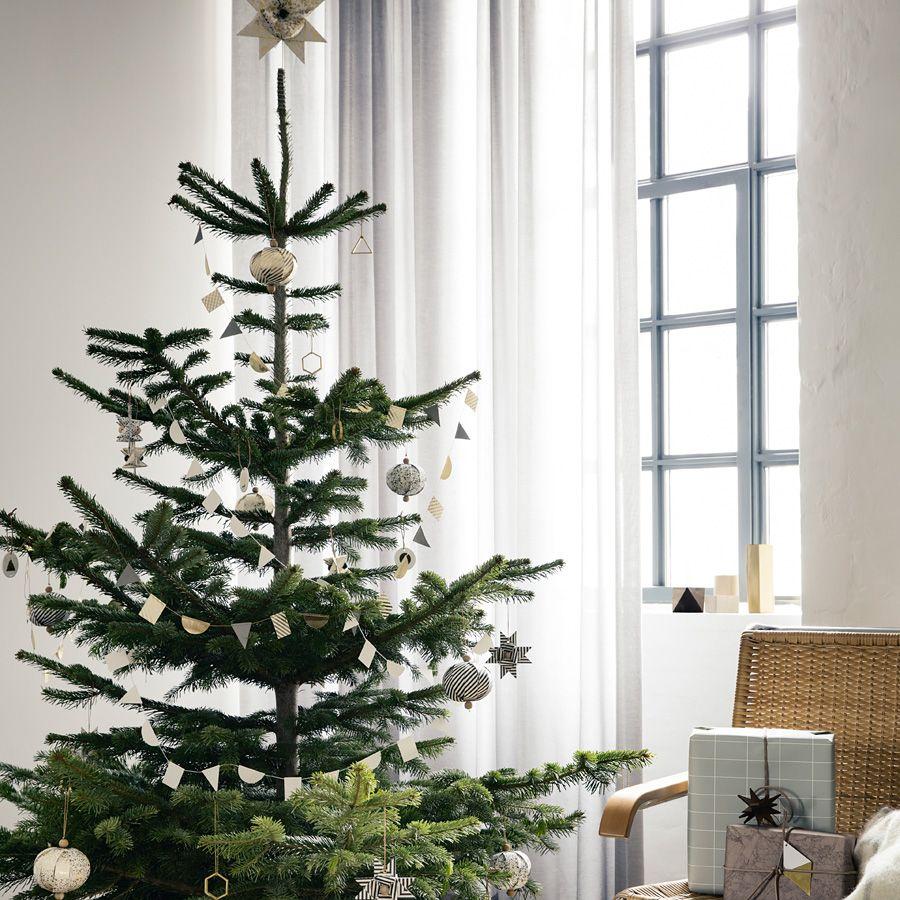 ferm living christbaumspitze stern paper top star black stripe online kaufen emil paula. Black Bedroom Furniture Sets. Home Design Ideas
