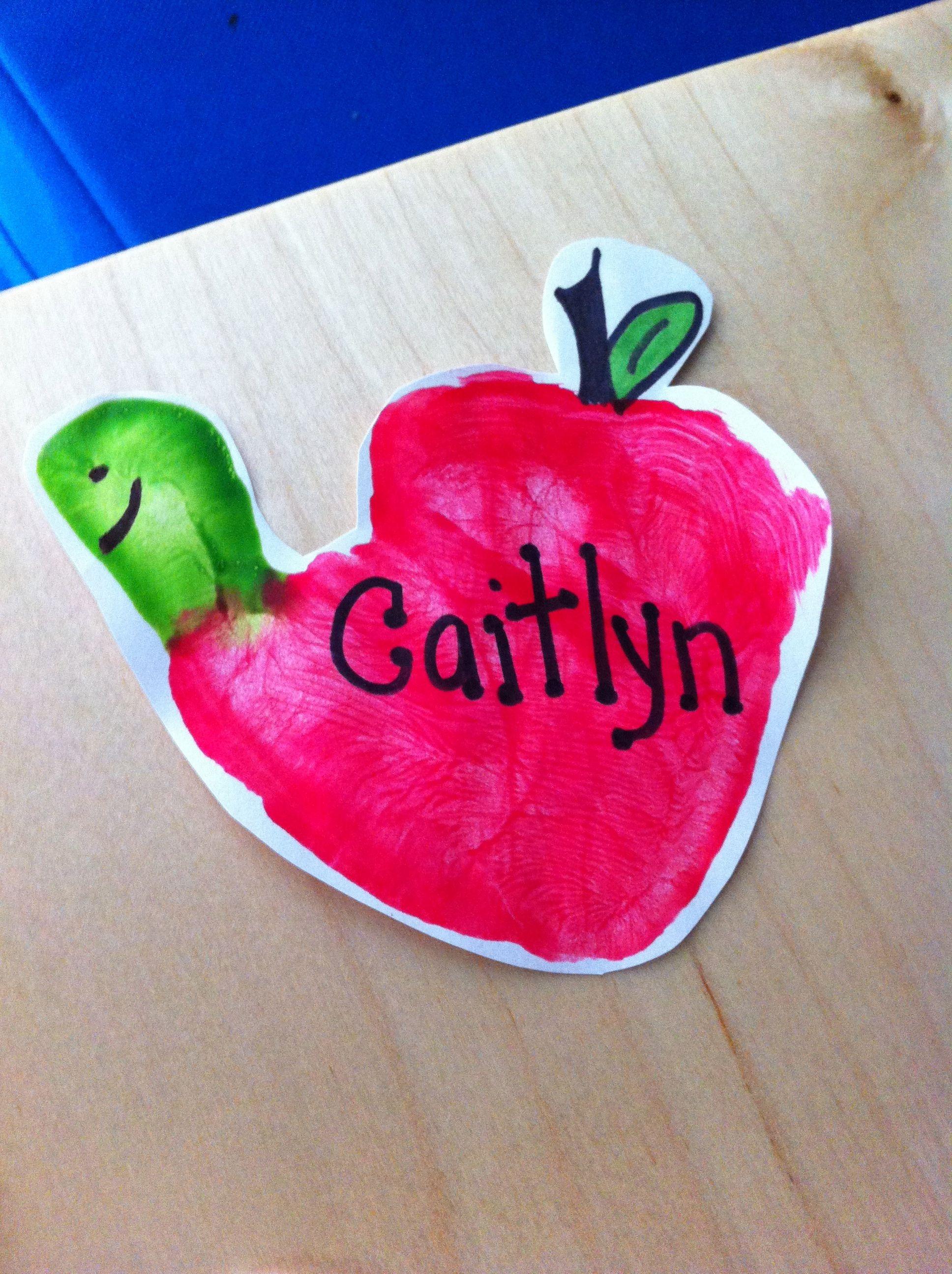 Handprint Wormy Apples