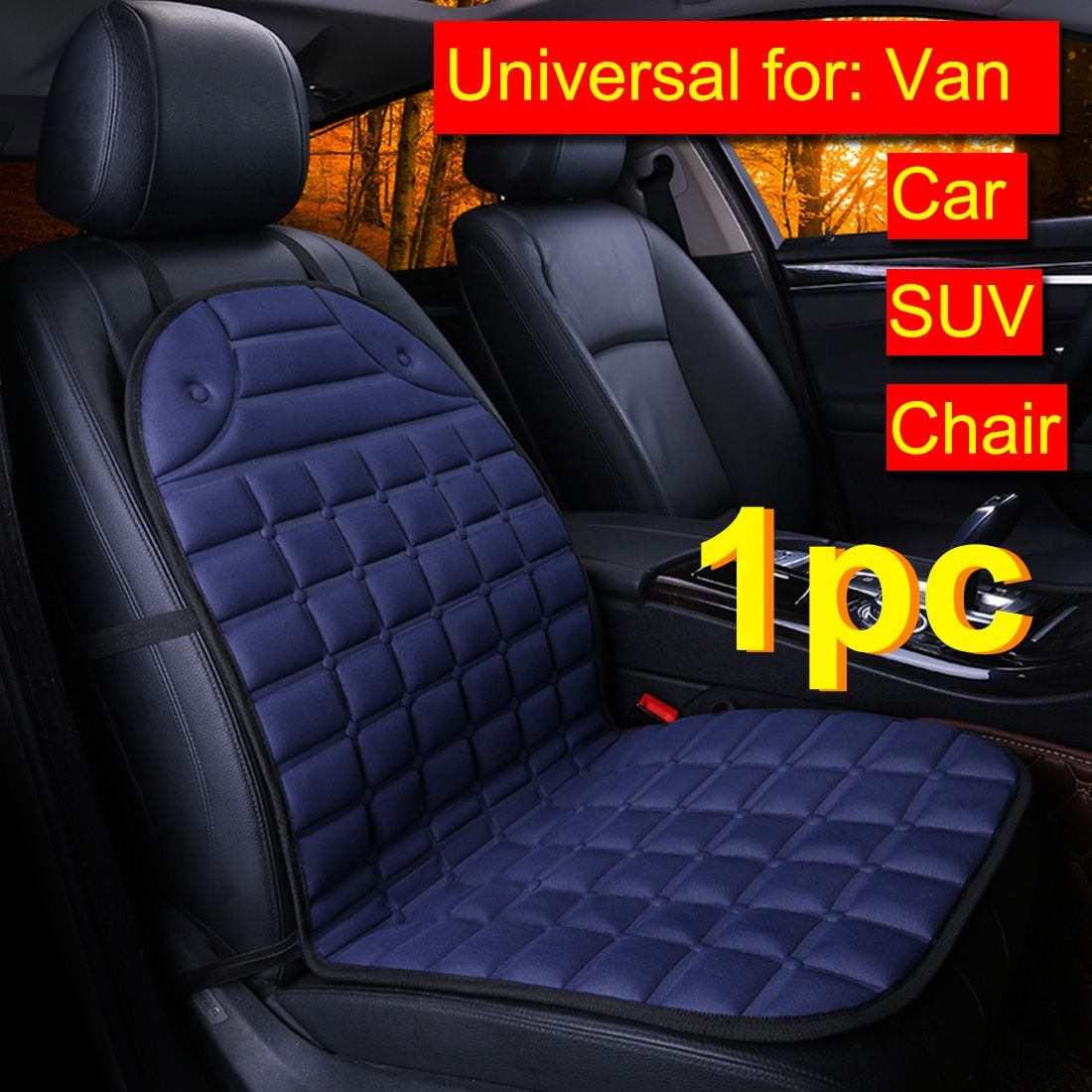 Dewtreetali 1pc Universal Car Seat Cover Plaid Front Seat Cover Winter Warm Household Cushion Pad For Van Truck For Car Seats Heated Car Seat Covers Winter Car
