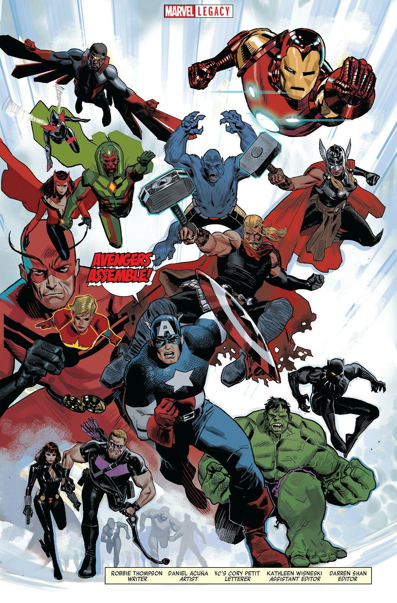 Avengers by Daniel Acuña | Avengers animados, Vengadores marvel ...