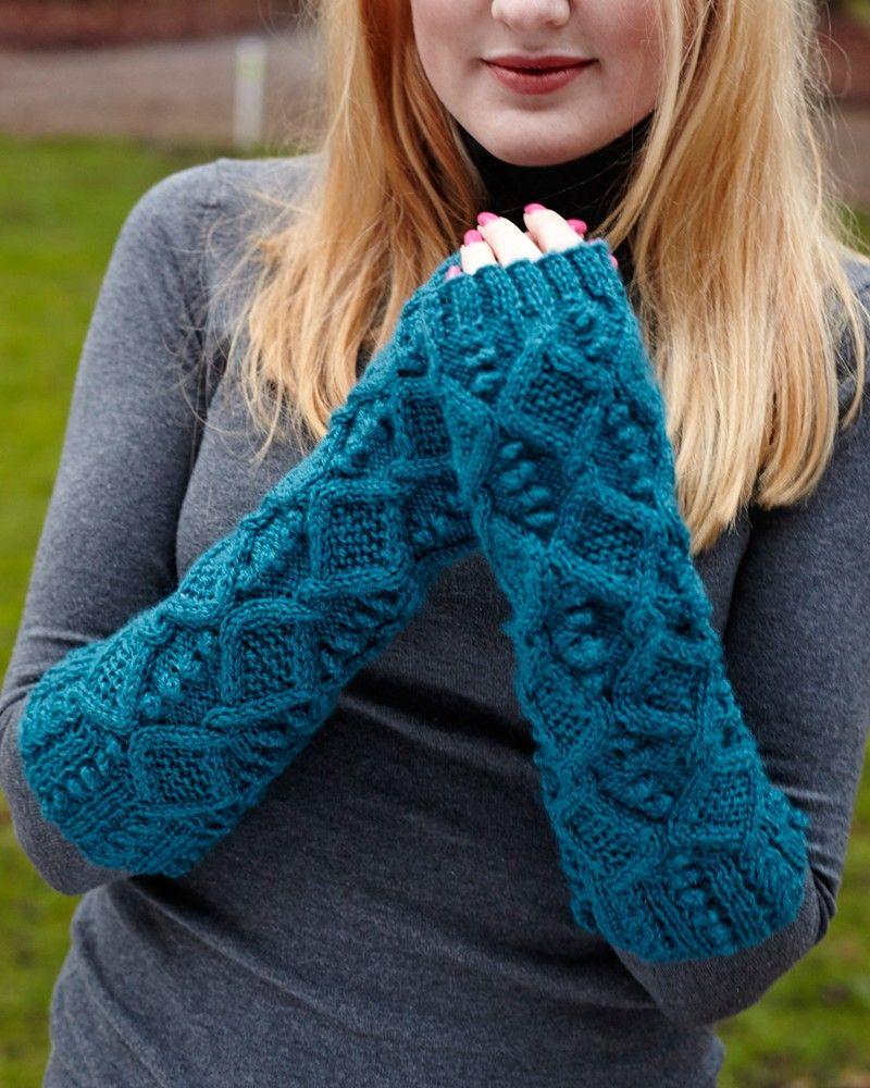 Bobble Armwarmers | Knitting Fever Yarns & Euro Yarns | Knitting and ...