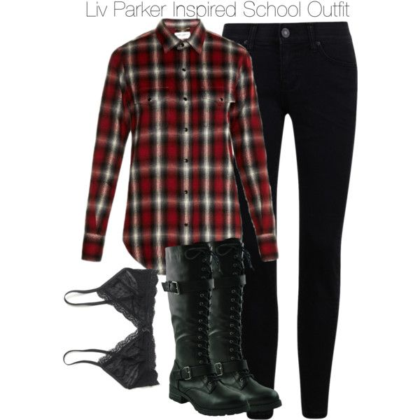 Liv Parker Inspired School Outfit by staystronng on Polyvore featuring Yves Saint Laurent, J.Crew, school, tvd and LivParker
