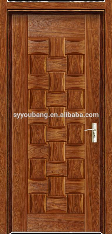 Simple nature teak wood main door designs melamine skin for Simple main door design