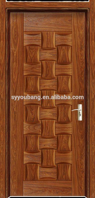 Simple Nature Teak Wood Main Door Designs Melamine Skin Door