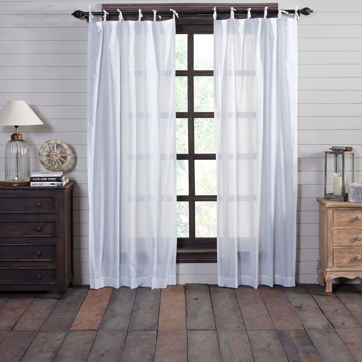 """Nora Tie Top Panel Curtains 84"""""""