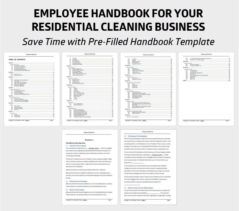 Save time with this pre-filled Employee Handbook template Default - procedure manual template for word
