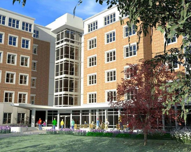 The Future Of The Six Pack The Group Of 6 Dorms Ikenberry Commons Are Slowly Getting Torn Down And Repl Building Design Design Build Company Campus Visit